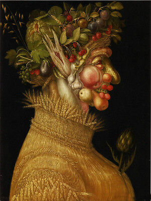 Handpainted art Oil panting Giuseppe Arcimboldo - The Summer free shipping cost