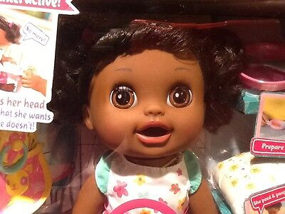 NEW IN BOX HASBRO BABY ALIVE Interactive Real Surprises Doll African American