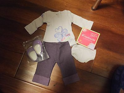 My American Girl Doll Real Me Purple Set Outfit MYAG Clothes Shoes Pants Shirt