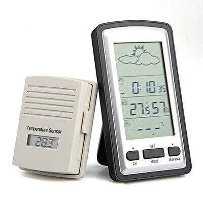 Multifunctional Outdoor Indoor Weather Station Thermometer Meter Digital Lcd