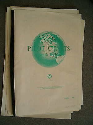 USA ATLAS OF PILOT CHARTS - SOUTH PACIFIC OCEAN - 12 months cover - 1981 edition