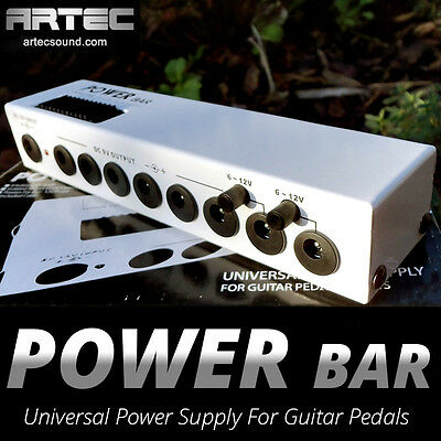 Artec PWB-8 Universal 8 way Power Supply for guitar pedals POWER BRICK