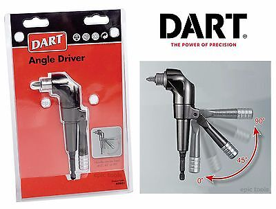 DART Right Angle 90 Degree Cordless Drill Magnetic Screwdriver Bit Attachment