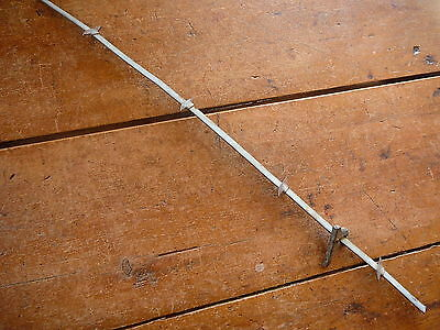 BRINKERHOFF'S LANCE  BARB FLAT RIBBON & CAST IRON STAPLE - ANTIQUE BARBED WIRE