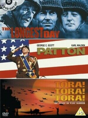 The Longest Day/Patton/Tora! Tora! Tora! [DVD] [1962] - DVD  9MVG The Cheap Fast