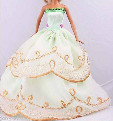 Fashion Handmade Barbie Party Clothes/Dress/Skirt/Gown For Barbie Doll n82