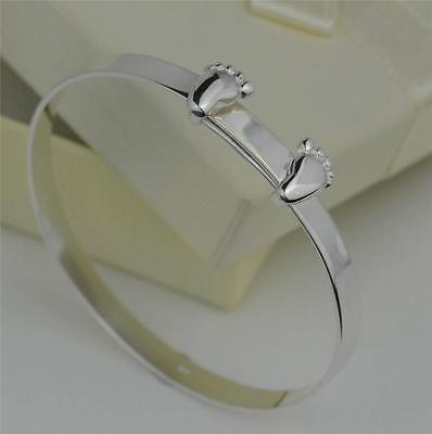 Sterling Silver Expanding Baby Children's Christening Bangle Bracelet