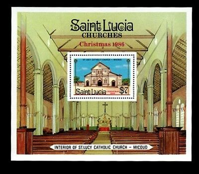 St Lucia - 1986 - Churches -  St Lucy - Mint - S/sheet!