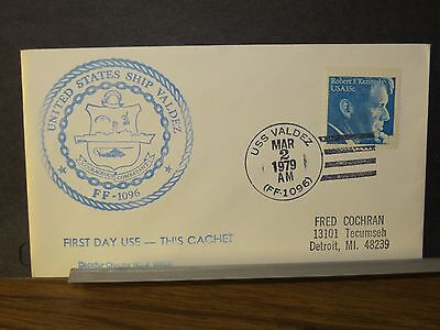 USS VALDEZ FF-1096 Naval Cover 1979 FIRST DAY Cachet