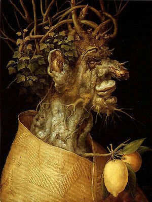 Oil panting Giuseppe Arcimboldo - The Winter free shipping for all customers 36""