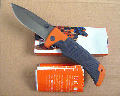 New Tactical Knife Lockback Fishing Hunting Survival Rescue Saber Gift G@B 1m16