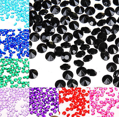 4.5mm WEDDING DECORATION Scatter Table Crystals DIAMONDS ACRYLIC CONFETTI 1/3ct