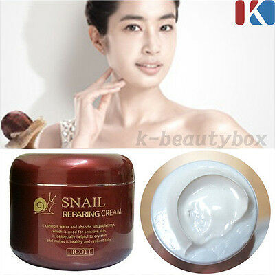 SNAIL CREAM Anti-Aging Night Treatments Snail Reparing Cream 100g Korea Cosmetic