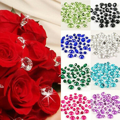 10mm WEDDING DECORATION Scatter Table Crystals DIAMONDS ACRYLIC CONFETTI 4ct