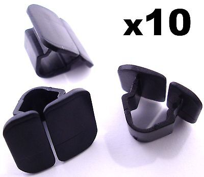 10x VW Bonnet Insulation Plastic Clips- Retainer Clips for Hood Sound Deadener