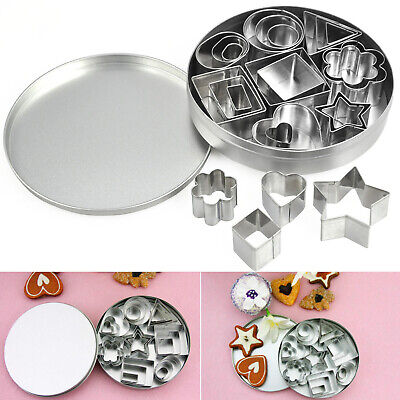 24Pc Steel Shape Cutter Moulds for Baking and Cake Decorating 8 Designs  - By T