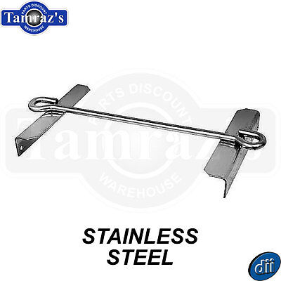 58-66 Chevy C/K Pickup Battery Tray Hold Down Clamp TOP FRAME - STAINLESS STEEL