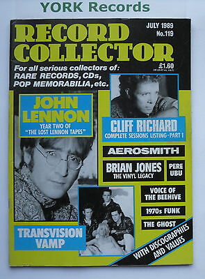 RECORD COLLECTOR MAGAZINE - Issue 119 July 1989 - John Lennon / Cliff Richard