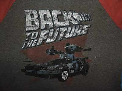 Back To The Future T-Shirt 3/4 Sleeves Delorean 80's Retro Tee Movie Poster DVD