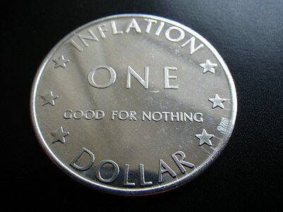 . United States of Inflation 1974 Good For Nothing One Dollar Dia:40mm  .....441