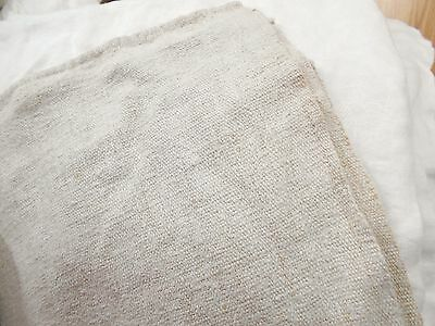 44x77 Vintage Antique HEMP LINEN Fabric Sheet Coverlet TWIN BLANKET BEDSPREAD