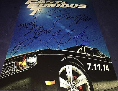 Fast And The Furious 7 Cast (8) Hand Signed 11x14 Autographed Photo Proof COA