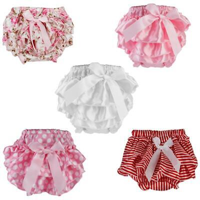 Cute Newborn Baby Infant Girl's Ruffle Bowknot Bloomers Diaper Nappy Cover Pants