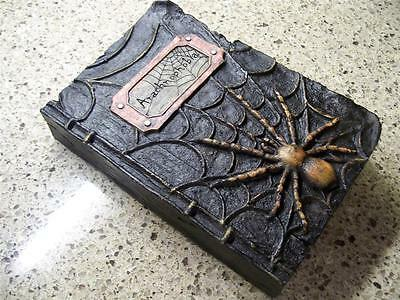 "NWT 9.5"" RAZ Arachnophobia Spider HALLOWEEN PROP WITCHES SPELL BOOK Decoration"