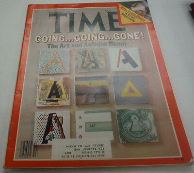 Time Magazine The Art And Antique Boom December 1979 041715R