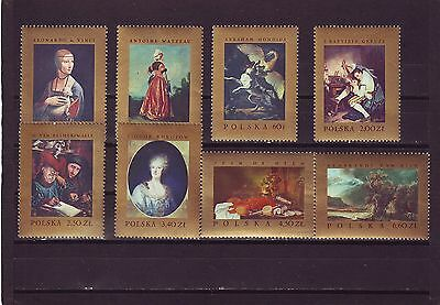 Poland - Sg1788-1795 Mnh 1967 Famous Paintings