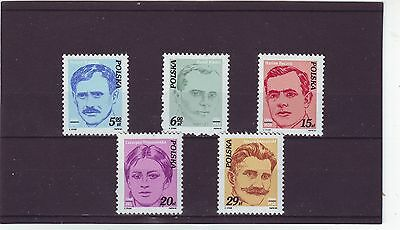 Poland - Sg2826-2830 Mnh 1982 Activists Of Polish Workers Movement