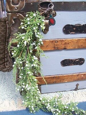 NWT 4'  Realistic Evergreen JUNIPER w/ Berries Swag Christmas GARLAND