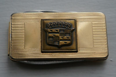 Cadillac Folding Knife File and Money Clip Imperial Stainless Emblem