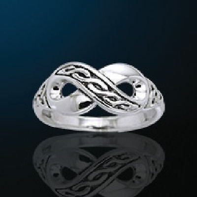 Celtic Infinity White Bronze Ring, Great Commitment Ring!