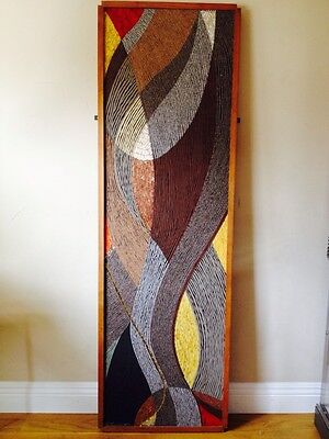 "Mid Century Modern Original Greayer Glass Mosaic Abstract Stone Wall Art 61"" Exc"