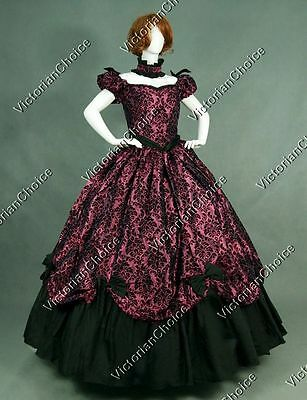 Victorian Gothic Southern Belle Prom Dress Gown Theater Reenactment Costume 323