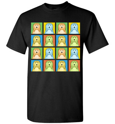 Bearded Collie Cartoon Pop-Art T-Shirt - Men Women Youth Tank Short Long Sleeve