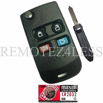 NEW 4B REPLACEMENT KEYLESS REMOTE FLIP IGNITION TRANSPONDER KEY + EXTRA BATTERY