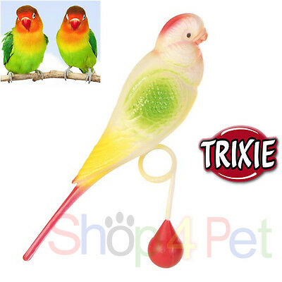 Trixie Small Budgie Bird Toy Slides over Perch, 4 Budgie, Cockatiel, Small Birds