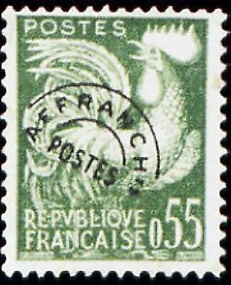 """FRANCE PREOBLITERE TIMBRE STAMP N° 122 """" TYPE COQ GAULOIS 55c """" NEUF (x) TB"""