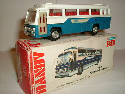 VINTAGE TOMICA DANDY HINO TOMEI HIGHWAY BUS COACH MADE IN JAPAN