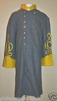 Confederate Officer Frock w/Yellow Collar & Cuffs - Size 42 - Civil War