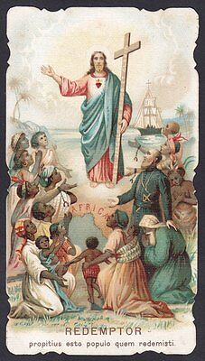 Santino 142 Gesù Redentore - Missioni Africa Holy Card Immaginetta Image Pieuse
