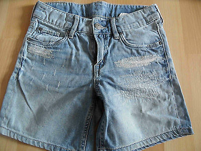 H&M coole used destroyed Jeans Shorts Gr. 140 w. NEU SH415