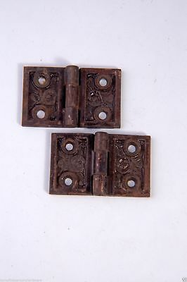 "Antique Victorian Shutter Hinges 1-1/4"" X 2"" W Cast Iron Reading Hw. AH04191505"