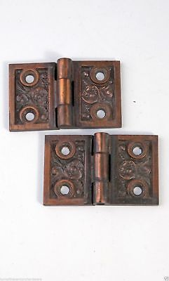 "Antique Victorian Shutter Hinges 1-1/4"" X 2"" W Cast Iron Reading Hw. AH04191506"
