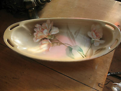 VINTAGE  VINTAGE  DISH  R S  GERMANY TILLOWITZ  PEACH CARNATION EXCELLENT COND.