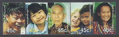 2000 Christmas Island Faces Strip Of 5 Stamps Fine Mint Muh/mnh