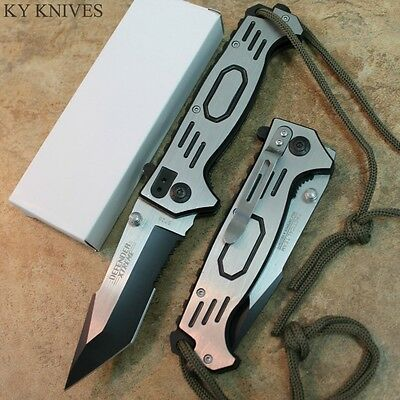 """8.5"""" Defender Xtreme Tactical Assisted Open Pocket Knife Tanto NEW 5726 zix"""