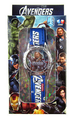 Lot Popular Captain America Watches With Boxes Cartoon Watch Party Favors P38